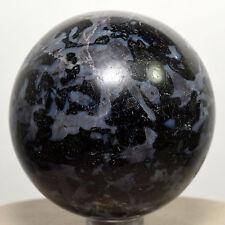"2.2"" Natural Mystic Merlinite Sphere Polished Indigo Gabbro Crystal - Madagascar"