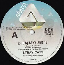 Stray Cats ORIG OZ 45 (She's) sexy and 17 NM 1983 Rockabilly Punk