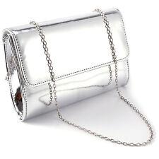 Designer Mirror Metallic Women Clutch Bridal Prom Gift Ladies Patent Evening Bag