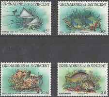 Timbres Poissons Grenadines St Vincent 311/4 ** lot 18501