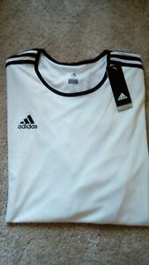 """ADIDAS New White Mens 3XL 58"""" Chest Sports Top Activewear T-Shirt"""