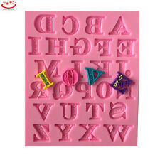26 Alphabet Letter Silicone Mold Chocolate Cake Fondant Decorating Mould Tools