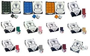 12 Pieces / BOX - Random Colours Of Genuine Silver Cup Pool / Snooker Cue Chalks