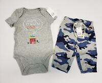 NWT Boys Baby Gap Size 2t or 3t Orange Shark Surf Beach Top Gray Knit Shorts