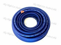 25 ft 4 Gauge AWG BLUE Power Ground Wire Sky High Car Audio GA ft
