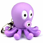 LED Purple Octopus Keyring with Light and Sound - Animal Keychain by PK Green