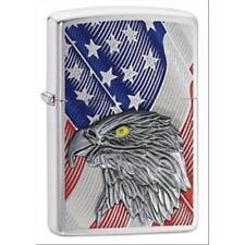 ACCENDINO ZIPPO BENZINA ANTIVENTO  29508 COLLEZIONE  USA FLAG W/ EAGLE PLACCA