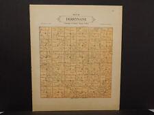 Minnesota Le Sueur County Map Derrynane  Township 1928 Dbl Side L10#84