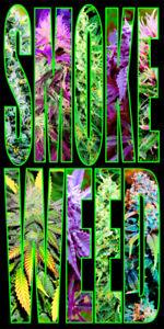 Smoke Weed Pot MJ Bath BeachTowel 30 x 60