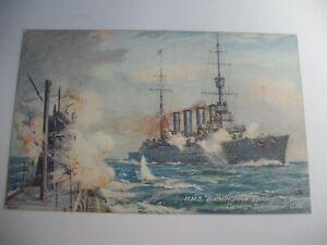 Raphael Tuck postcard History HMS Birmingham sinking German Submarine U151
