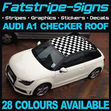 AUDI A1 CHECKER ROOF CAR GRAPHICS STRIPES DECALS STICKERS S LINE TDI S1 1.4