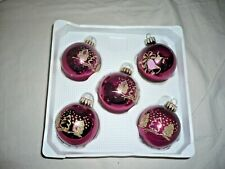 Vintage Retro Traditional German Glass Christmas Tree Decorations Baubles Boxed