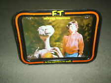 E.T. Extra Terrestrial Black Snack Tray / TV Tray / Folding Tray / Food 1982 VTG