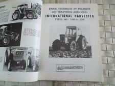REVUE TECHNIQUE TRACTEURS AGRICOLES INTERNATIONAL HARVESTER CLAAS