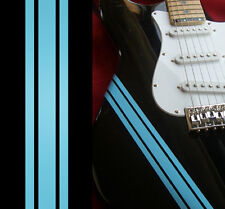 Competition Racing Line Stripes (Sonic Blue) Decal For Guitar & Bass Body