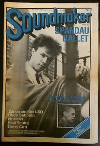 Soundmaker Magazine 29th Jan 1983 Spandau Ballet Free UK P&P