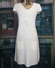 Nw/oT JFW by Just for Wraps Sz L Cream color Knit Short sleeve Dress