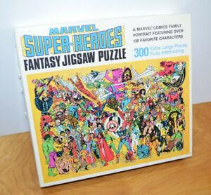 Vintage MARVEL SUPER HEROES FANTASY JIGSAW PUZZLE 1988 Galactus Moon Knight Hulk