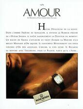 Publicité Advertising 079  1985  la montre Michel Herbelin  Amour   H homme