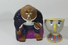 Disney Beauty & The Beast Plastic Hand Puppets Chip, and The Beast (C)