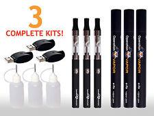 New! Complete Starter Kit e-Atomizer USB Charger Vape-Pen x 3