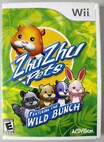 Zhu Zhu Pets: Featuring the Wild Bunch - Complete w/ Manual - Nintendo Wii