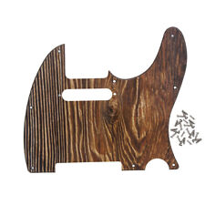 Wood Color Tele Guitar Pickguard 8 Holes Telecaster Scratch Plate with Screws