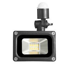 10W 220V LED Floodlight Garden Outdoor Security Spot Light Warm Lamp PIR Sensor