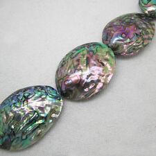 Wholesale 7pcs, 40-52mm Beautiful Abalone Shell Freeform Loose Beads