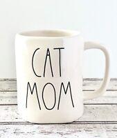 "Rae Dunn ""CAT MOM"" White Ceramic Mug by Magenta~Artisan Collection"