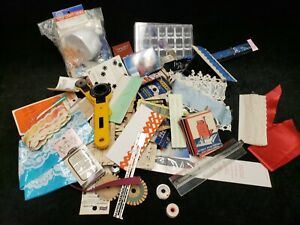 LOT Vintage Sewing Notions Junk Drawer Crafts Snaps Box Button Trims 2+ Pounds