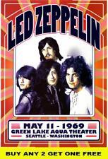 LED ZEPPELIN 1969  Laminated  Tour Poster