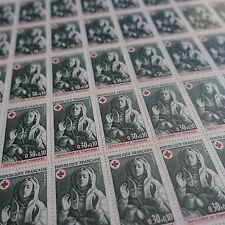 FEUILLE SHEET TIMBRE CROIX ROUGE RED CROSS N°1779 x50 1973 NEUF ** LUXE MNH