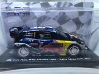 """DIE CAST """" FORD FIESTA WRC SEBASTIEN OGIER RMC - 2017 """" 1/24 HACHETTE TEST"""