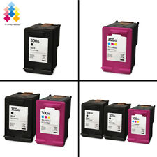 Lot Black & Tri-Colour Ink Cartridges unbrand fits for HP 300XL Printers