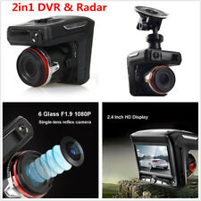 2.4'' Full HD 1080P Car Video Camera Recorder Dash Cam Radar Speed Detector DVR