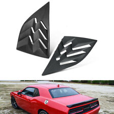 Quarter Side Window Scoop Louvers Hood Vent Sun Shade Cover for Dodge Challenger