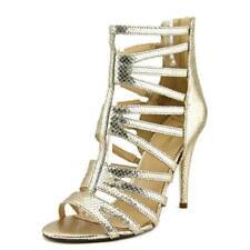 Calzado de mujer Nine West color principal oro de piel