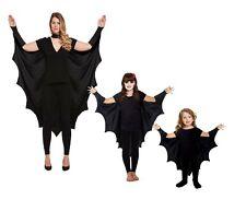 Gothic Vampire Bat Wings Costume Cape Fancy Dress Adult Kids Halloween Girl Cape