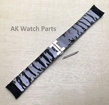 Spare Silver & Black Strap Fits Emporio Armani AR5858 Watch Bracelet/Band/Link