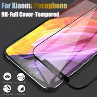 For Xiaomi pocophone F1 Screen Protector Full Cover 9H Real Tempered Glass 3D