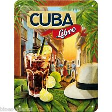 Cuba Libre Blechschild - 15x20 cm -  Nostalgic Art Retro Vintage