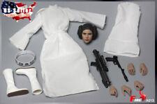 "1/6 Princess Leia Head Sculpt Clothing Set Star Wars For 12"" HotToys Figure❶USA❶"