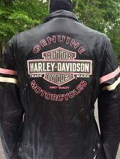 Harley Davidson Pink Fall Miss Enthusiast Leather Jacket Women's Medium