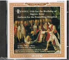 Handel: Ode For The Birthday Of Queen Anne, Anthem; Haydn: Missa Br / Preston CD