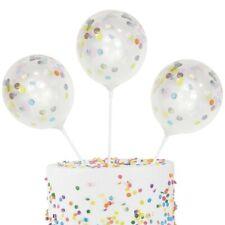 5 Kuchendeko Mini Konfetti Ballon Topper   Geburtstagstorte Deko Torte Mitgebsel