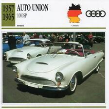 1957-1965 AUTO UNION 1000SP Sports Classic Car Photo/Info Maxi Card