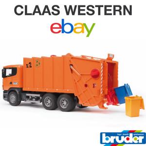 Bruder SCANIA R-series Rubbish truck (orange) 03560
