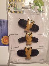 Janosch Haarschmuck Set mit 3 Haarspangen Tigerente auf Holz Schmuck  Neu OVP