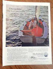 1961 Prudential Life Insurance Ad One Policy Protect Captain & his Crew Family